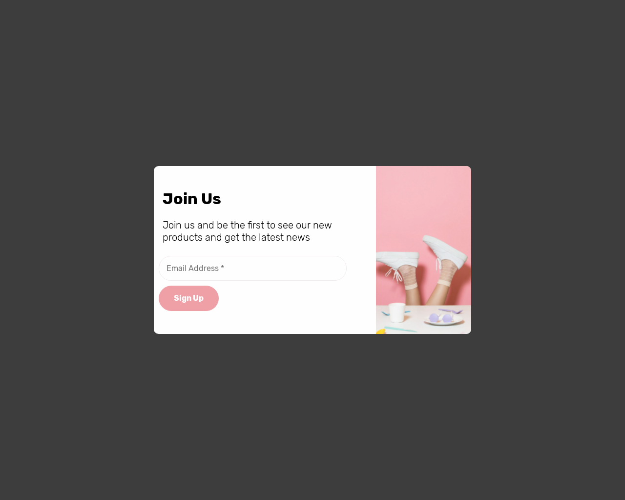 Sign Up With Side Picture - popups