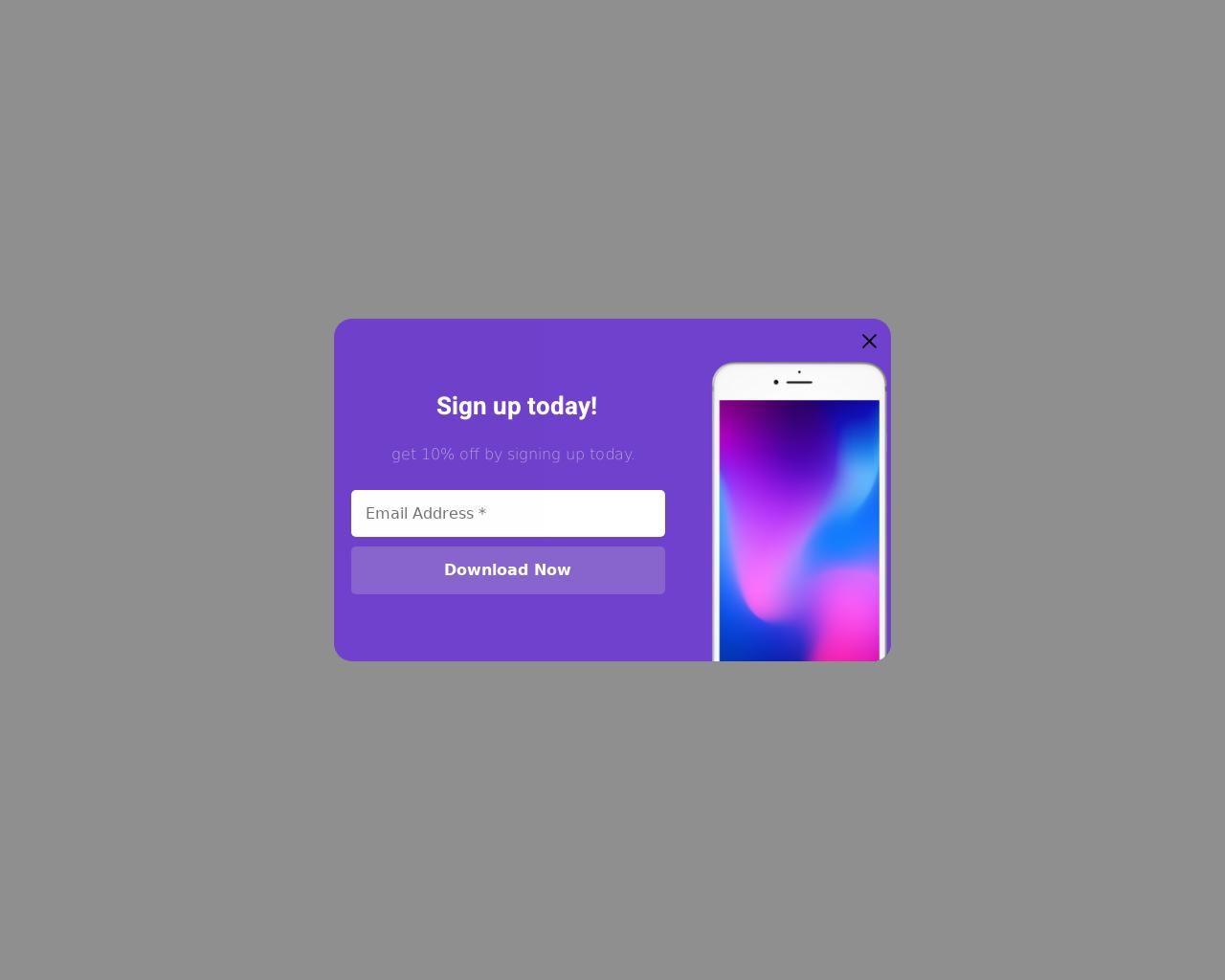 App Download - popups