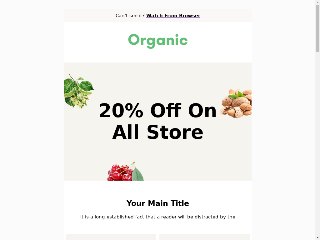 Organic - templates