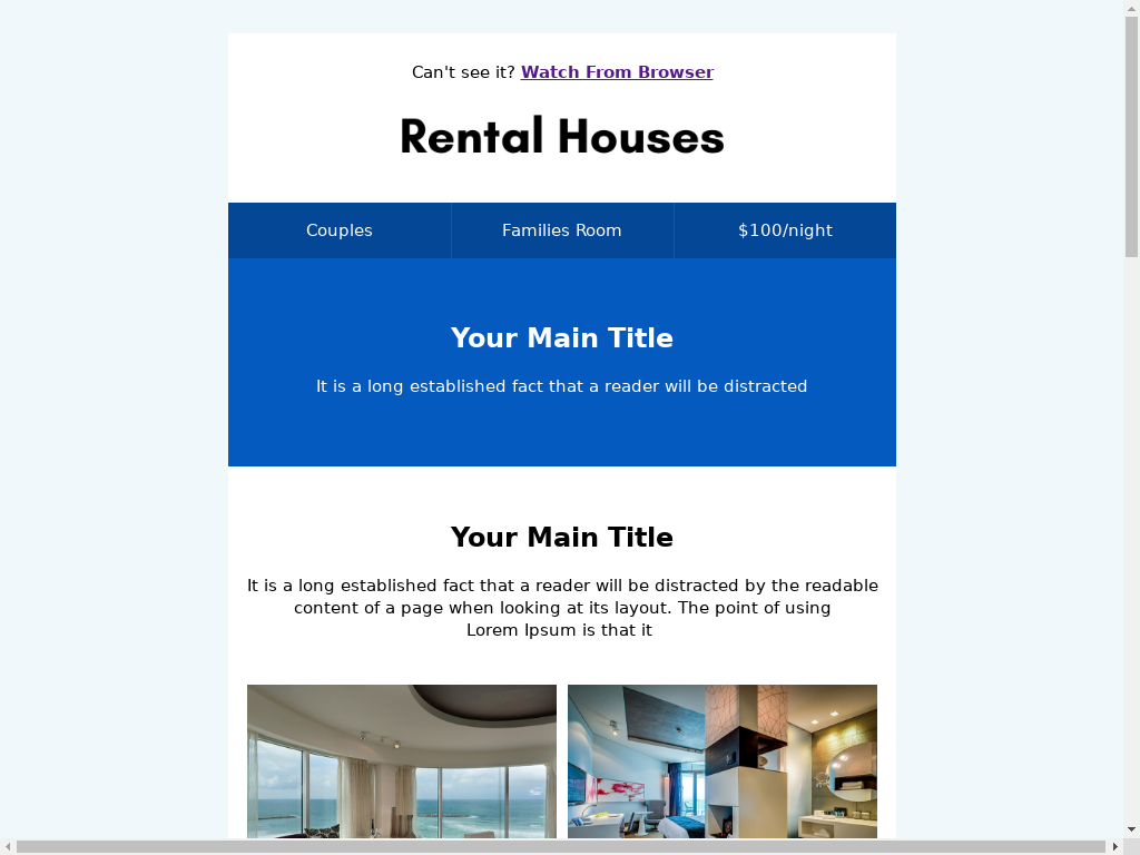 Rental Houses - templates