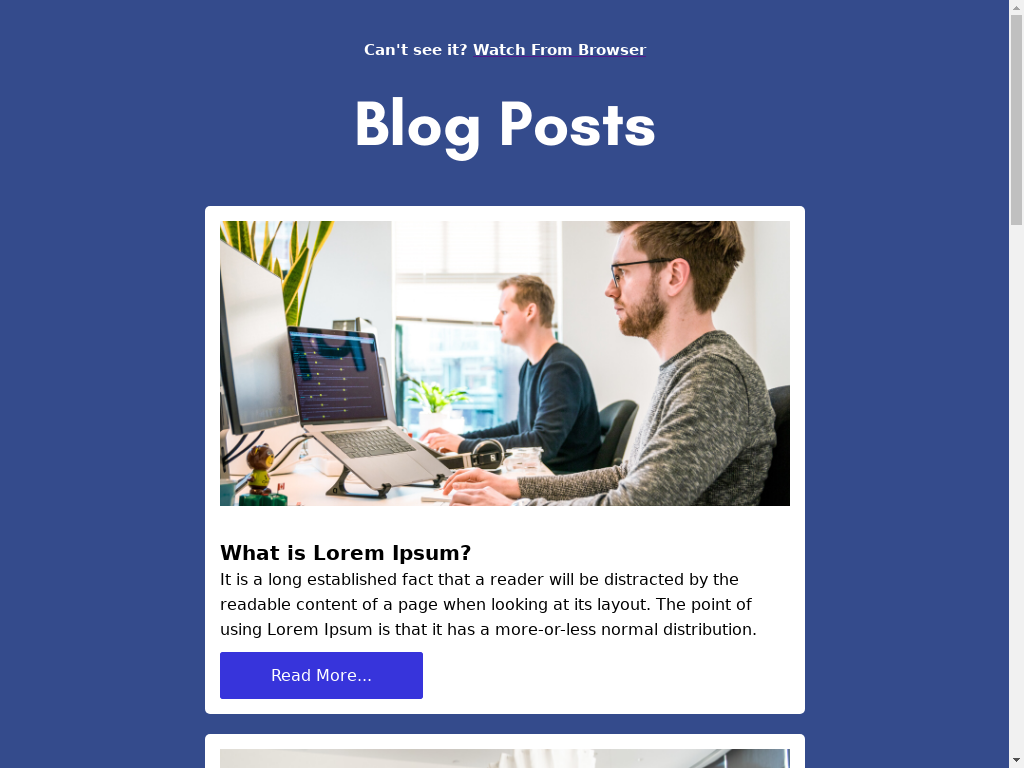 Blog Posts - templates