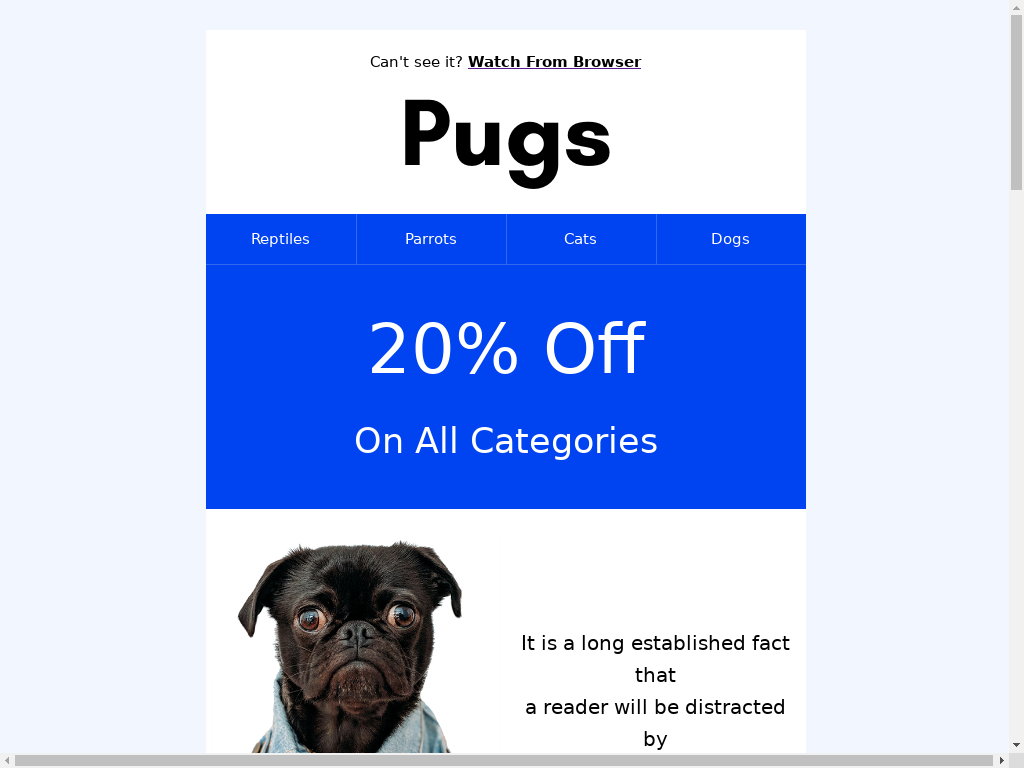 Pugs - Blue Header - templates