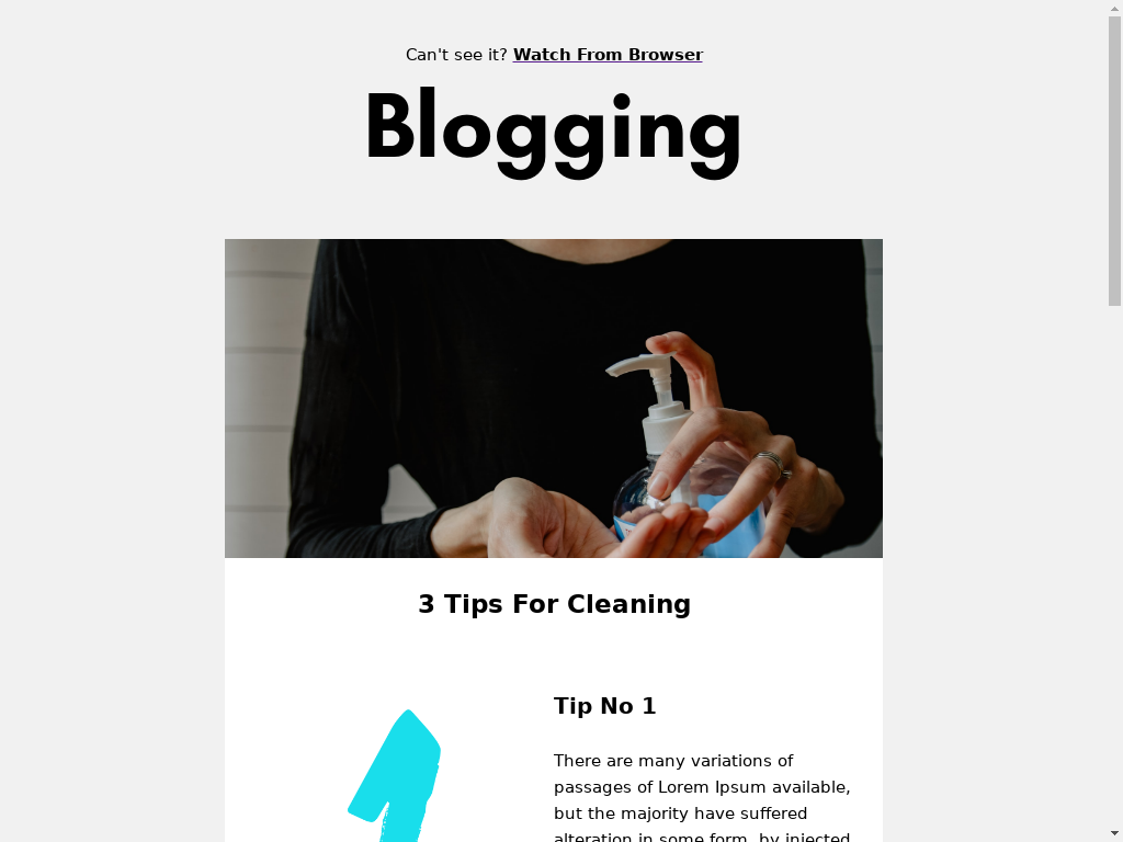 Blogging - templates
